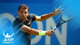 Tsonga, Dimitrov win; Kyrgios retires injured | Queen's 2017 Highlights Day 1