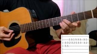 Dama de vermelho aula solo violão (como tocar)