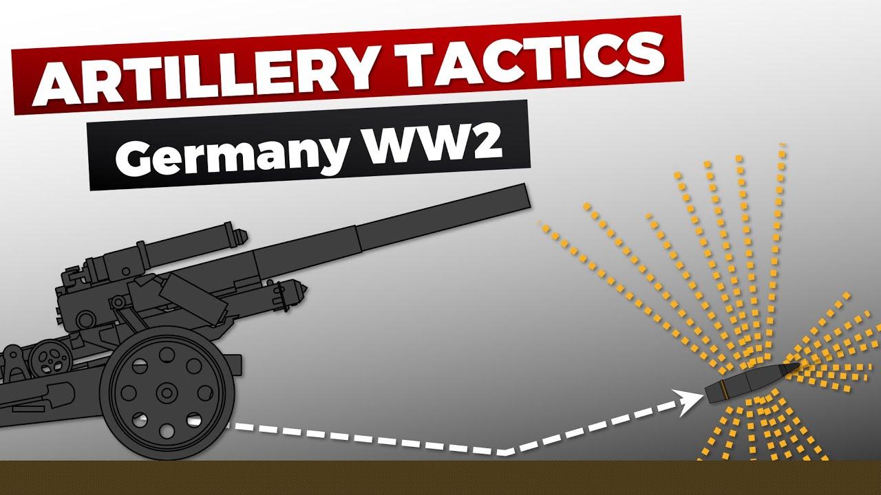 German Artillery Tactics & Combat in WW2