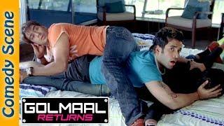 Golmaal Returns Comedy Scene - Ajay Devgan - Arshad Warsi - Kareena Kapoor width=