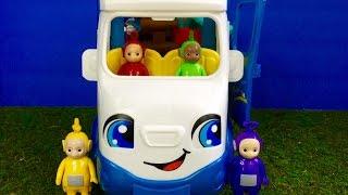 TELETUBBIES Toys Camping In Little People Van! width=