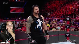 WWE Raw 9/4/17 Someones Zipper is open Cena/Reigns Promo