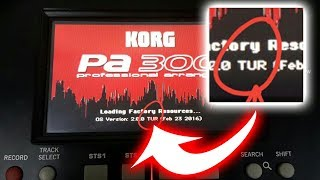 HOW TO EDIT KORG PA300 SYSTEM