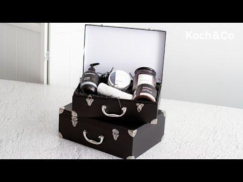 Suitcase Hamper Gift Box Grey (26Wx36Lx13WcmH) Set 2
