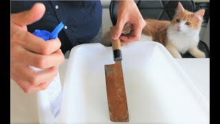 Polishing a Rusty Knife