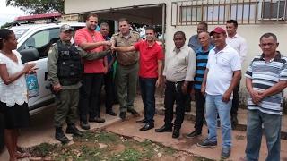 PMemAção: Comandante Geral entrega viaturas durante visita ao sul do Piauí