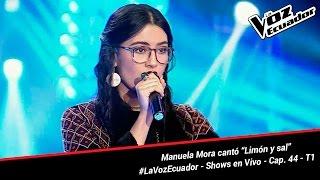 """Manuela Mora cantó """"Limón y sal"""" - La Voz Ecuador - Shows en Vivo - Cap. 44 - T1"""