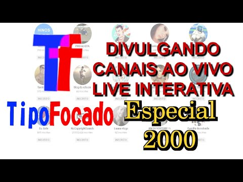 DIVULGANDO CANAIS #80 TRANSMISSÃO INTERATIVA | AO VIVO
