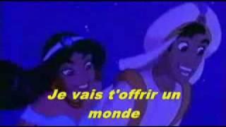 Walt Disney - Aladdin - Çe rêve bleu (Un mundo ideal)