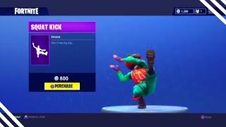 NEW SQUAT KICK DANCE! Fortnite ITEM SHOP April 27 2018! NEW Featured items and Daily items!