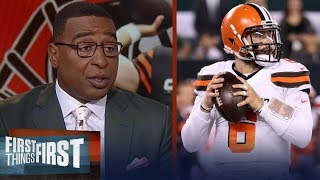 Cris Carter believes Browns can beat Rams but Baker has to play better | NFL | FIRST THINGS FIRST