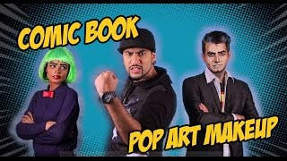 Comic Book Pop Art MakeUp | Comic Con Special | Mad Stuff With Rob
