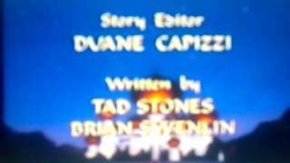 "Aladdin: The Animated Series ""Disney's"" End Credits with Touchstone Television 1989 logo"