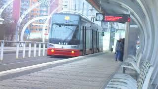 Tramvaje v Praze na Sídlišti Barrandov, 27.12.2017