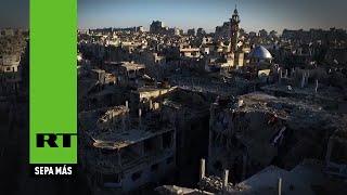 Después de la guerra: la devastación de Homs a vista de dron width=