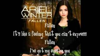 Ariel Winter- Fallen Lyrics