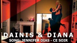 Jennifer Dias - Ce soir | Kizomba Dance Impro | Dainis & Diana | 2016 HD