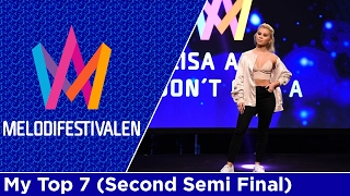 Melodifestivalen 2017: My Top 7 (Second Semi Final)