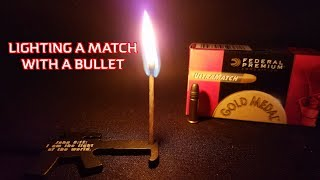LIGHTING A MATCH WITH A BULLET - TRICK SHOT