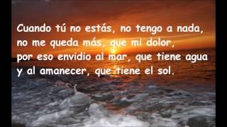 Raphael  Cuando tu no estas (Letra)