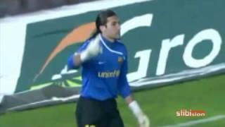 El milagro de P. PINTO ¡¡¡SUPER PINTO!!! (Penalty: Mallorca - Barça 04/03/09)