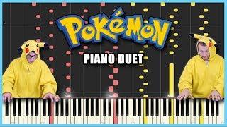 Pokémon Battle Music [SYNTHESIA] | Frank & Zach Piano Duets