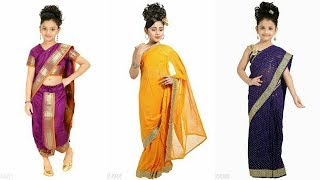 Marathi  Style Baby Saree  designs 2017