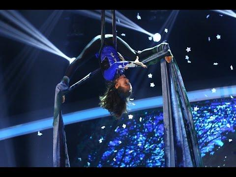 Cristina Tic-Chiliment, număr de acrobaţie aeriană la frânghie, în marea finală Next Star