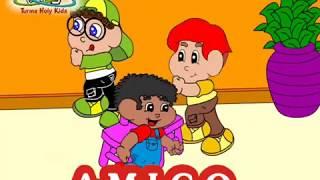 As melhores músicas infantis gospel para criança - Turma Holy Kids - Amigo