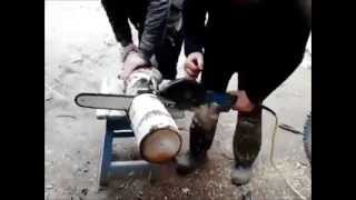 angle grinder to chainsaw conversion