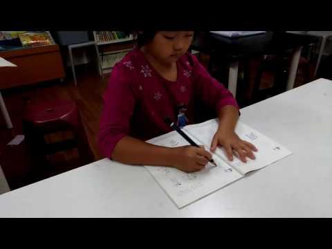 大班幼兒6B鉛筆寫字執筆教學 - YouTube
