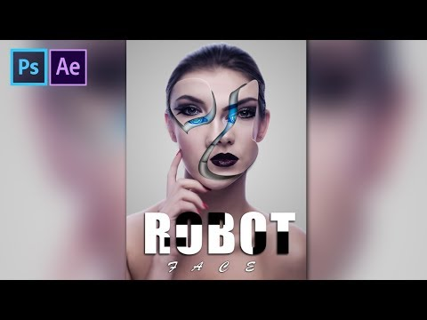 Download thumbnail for ROBOTIC Face Effect   Robot in Photoshop CC
