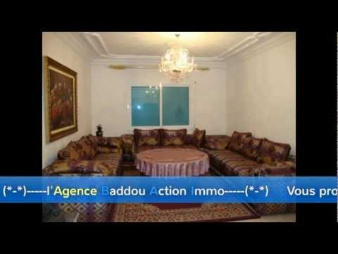 Bel Appartement bien Meublé à l'Agdal    — Agence Baddou Action Immo—