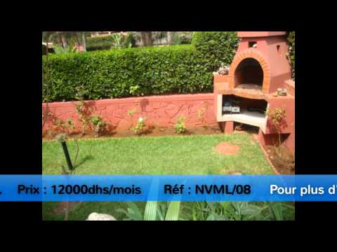 Une très belle villa meublé en location   —Agence Baddou Action Immo—