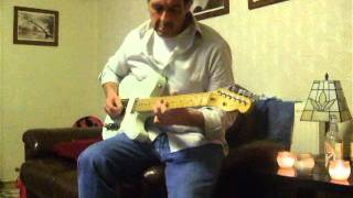 Dads Marvin Gaye Lets Get It On guitar improvisation!