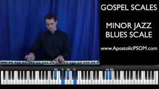 GOSPEL SCALES: Minor Jazz Blues Scale