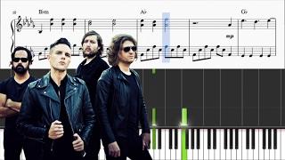 The Killers - Mr Brightside - Piano Tutorial + SHEETS