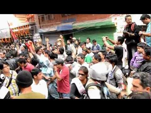 Street party. Kathmandu, Nepal.