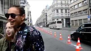 IRINA SHAYK arrivant au défile haute couture  ATELIER VERSACE AUTOMNE/HIVER 2016/2017