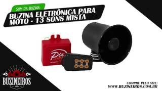 Som da Buzina Eletrônica para Moto - 13 Sons Mista