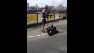 Ste the busker sings Yellow by Coldplay