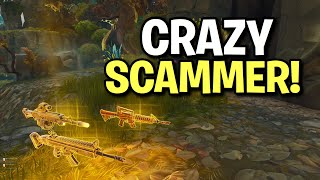 Dumb Toxic Scammer Scams Himself! (Scammer Get Scammed) Fortnite Save The World