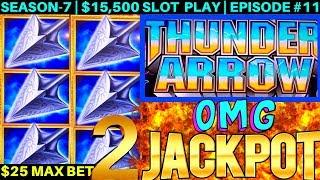 2 Handpay JACKPOTS On NEW Thunder Arrow Konami Slot Machine | OMG-NG | SEASON-7 | EPISODE #11