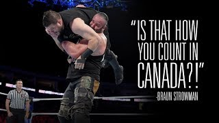 Find out how Kevin Owens responded to Braun Strowman's attack on his home country