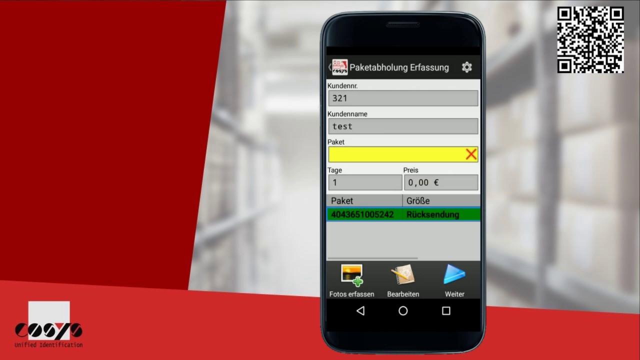 Paketabholung sichtlich verbessern mit Android | COSYS Paketshop Management Module