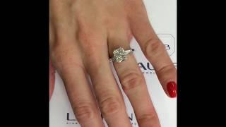 2.41 ct Radiant Cut Diamond 3-Stone Engagement Ring