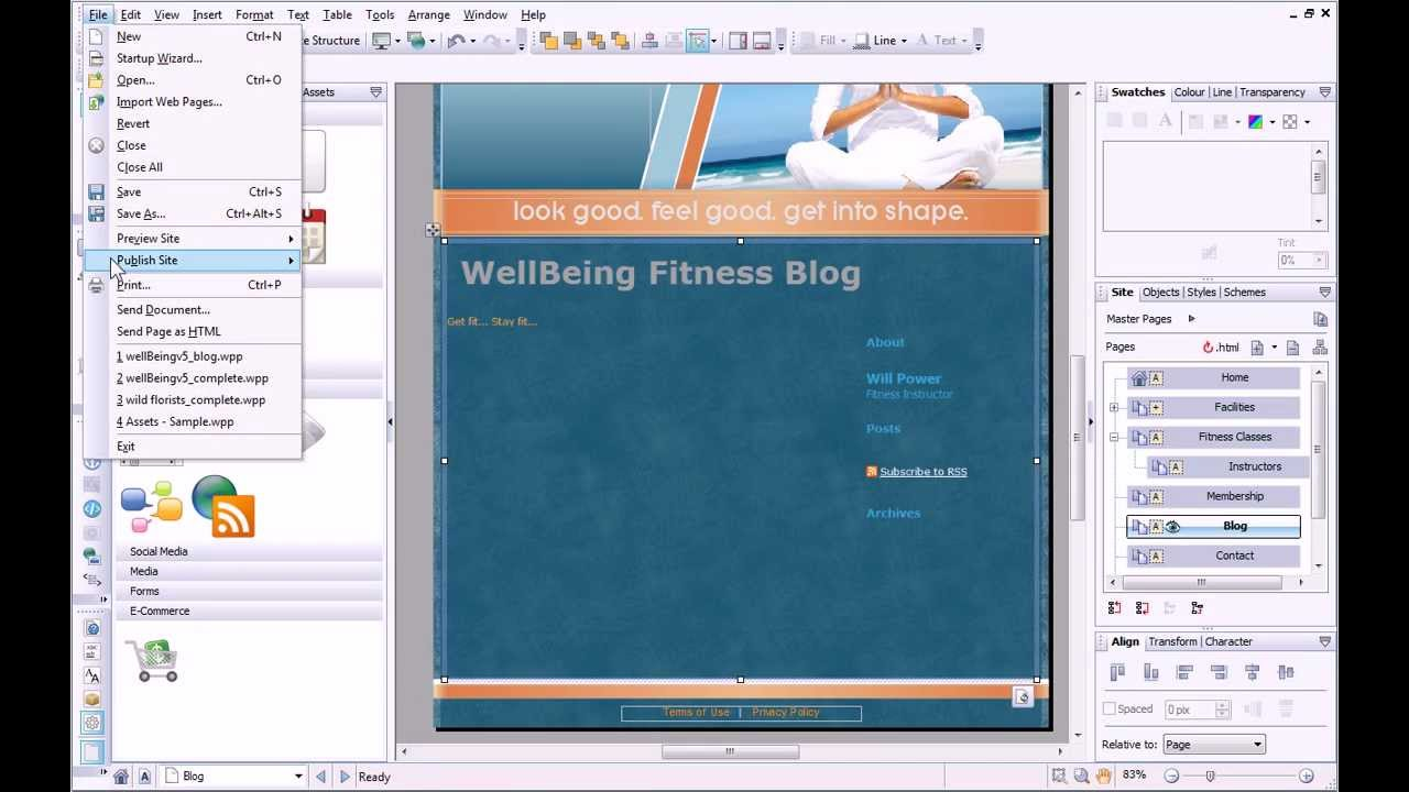 Serif WebPlus X6 Tutorial - Adding a Blog