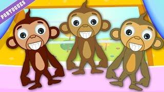 Cinco Macaquinhos - canções para crianças (Five Little Monkeys)
