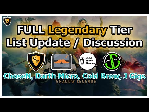 RAID Shadow Legends | FULL Legendary Tier List Update / Discussion!