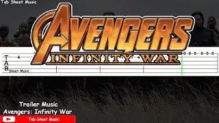 Avengers: Infinity War Official Trailer Music Guitar Tutorial